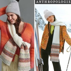 ANTHRO Avery Space-Dyed Hand Knit Wrap Scarf